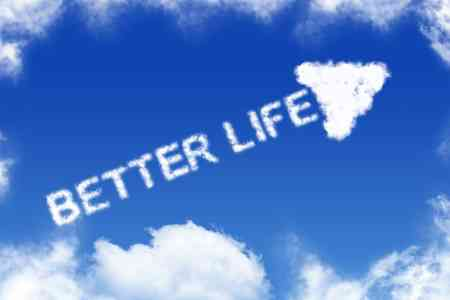 writing better life in a blue sky