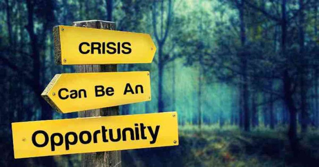 stake with indications pointing both towards crisis and opportunity