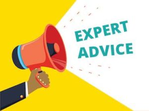 megaphone with writing expert advice
