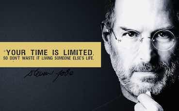 Steve jobs quote: time is limeted