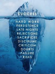 iceberg compared to success