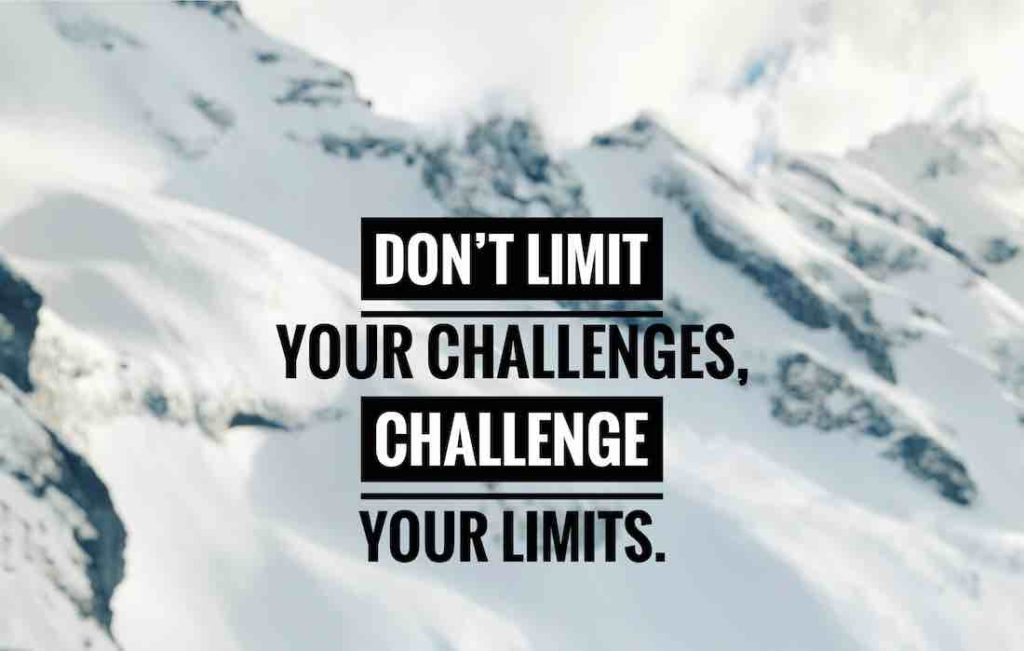 writing: don't limit your challenges, challenge your limits.