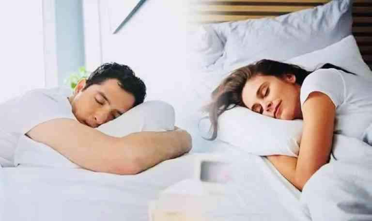 man and woman are sleeping