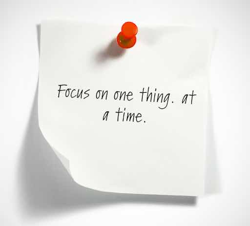 small paper: focus on one thing at a time