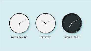 three clocks representing three options