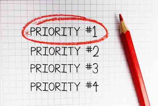 word: Priority #1 is highlighted with red circle