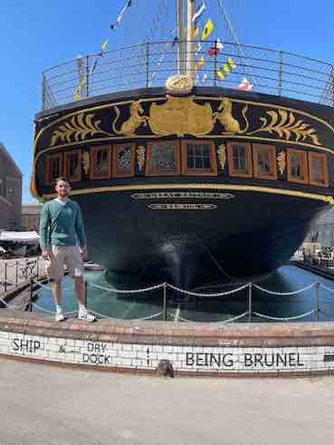 I am standing by The SS Great Britain ship