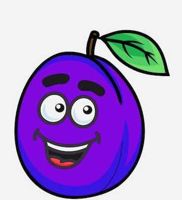 plum cartoon