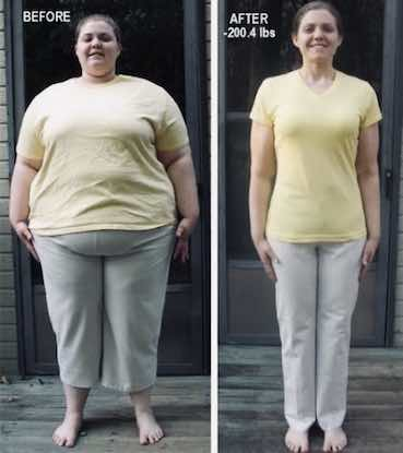 image of a woman before and after diet