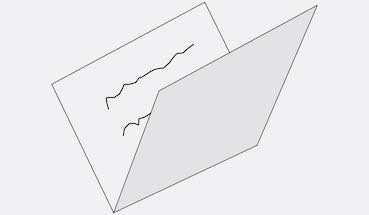 piece of paper fold in half