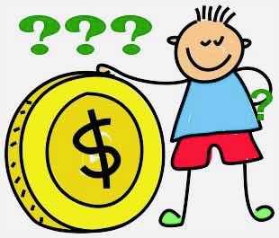 cartoon boy with a gold coin